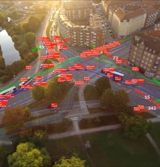 drone traffic data using AI and machine learning